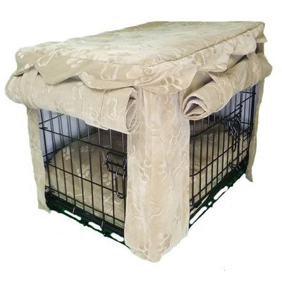 Snoozer Snoozer Cabana Crate Cover With Matching Pillow Bed, Fido Buff Mutt, Microfiber, L front-1057898