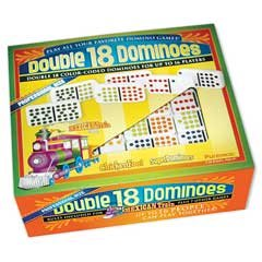 Double 18 Dominoes - Color Dots