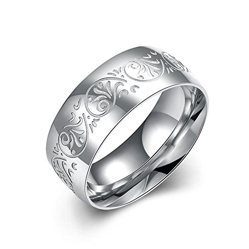 Men's Stainless Steel Polished Wedding Band Ring in Comfort Fit and Matte Finish -RebeccaSeller (Custom Costumes In Edmonton)