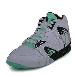 Nike Men\'s Air Tech Challenge Hybird QS White/Green Glow/Wolf Grey/Ice Tennis Shoe 8 Men US