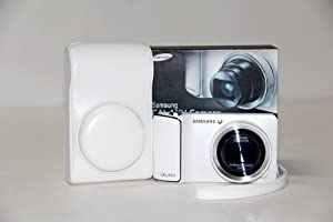 White PU Leather Camera Case Bag Cover For Samsung Galaxy GC100 Camera EK-GC100 New