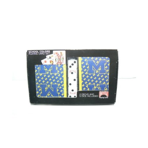 Sale alerts for Bicycle NCAA Officially Licensed Michigan Wolverines 2 Packs of Playing Cards with Dice - Covvet