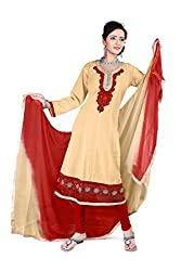 Shree Vardhman Synthetics Chiku Semi Cotton Top Straight Unstiched Salwar Suit Dress Material