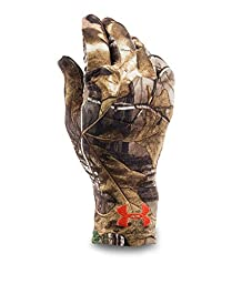 Under Armour Men\'s Camo HG Gloves, Large, Realtree AP-Xtra (946)