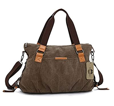 KISS GOLD(TM) Women's Retro Washed Canvas Cross-body Shoulder Bag Totes by KISS GOLD