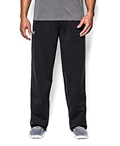 Under Armour Men's Armour® Fleece Open Bottom Team Pants Small Black