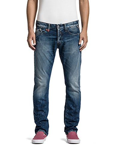Replay - Waitom, Jeans straigh leg da uomo, blu(blau (blue denim 9)), 48 IT (34W)
