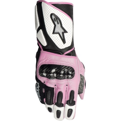 Alpinestars Stella SP-2 Women's Leather On-Road Racing Motorcycle Gloves - White/Black/Pink / Medium
