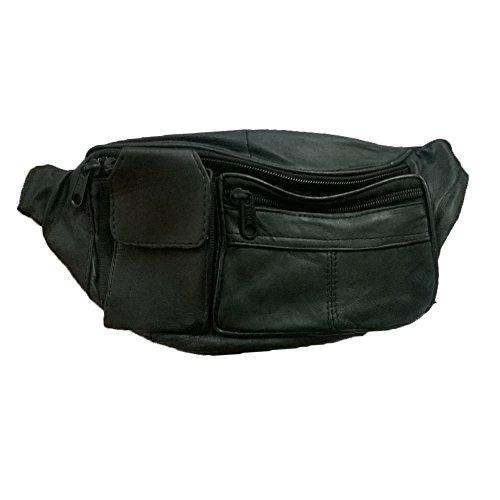 ALW KIKS Soft Black Sheep Leather Travelling Waist Pouch – Black