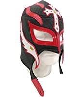 Rey Mysterio Lucha Libre Wrestling Mask (Pro-fit) Costume Wear -Black/Red