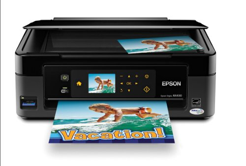Epson Stylus NX430 Wireless All-in-One Color Inkjet Printer, Copier, Scanner (C11CB22201)