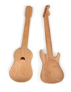 Kikkerland Rockin Wooden Spoons, Set of 2