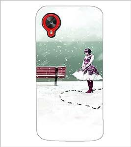 PrintDhaba Cute Girl D-4435 Back Case Cover for LG GOOGLE NEXUS 5 (Multi-Coloured)