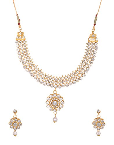 Reetifashion White Metal Jewelry Set for Women (RF_10B_46)
