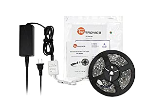 TaoTronics® TT-SL001 Waterproof RGB LED Strip Light Kit (16.4ft, 150 LEDs, Color Changing RGB SMD 5050, Dimmable, Including a 24-key Remote Control & 60w Power Supply)