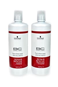 Schwarzkopf Bonacure Hairtherapy Amino Cell Rebuild Repair Rescue Shampoo and Conditioner, 1 L Each,  Duo Set