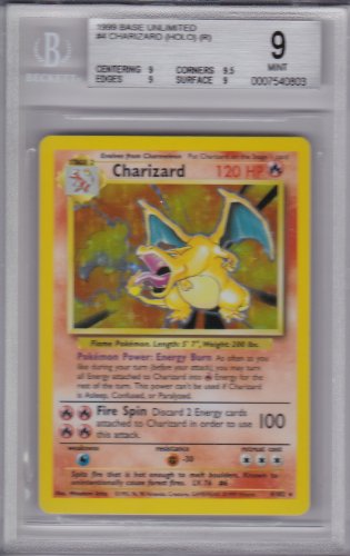 Charizard Pokemon Original Base Shadow Unlimited Set HOLO Card Graded BGS 9 MINT