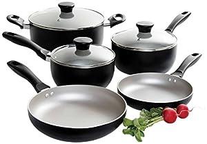 Oster 91996.08 Worthington 8-Piece Non-Stick Aluminum Cookware Set, Multi-Size, Grey