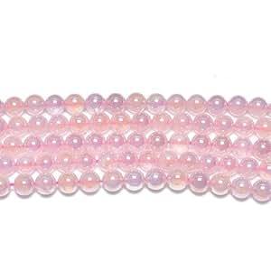 Strand Of 45+ Rose Mystic Quartz A.B. 8mm Plain Round Beads - (GS8116-2) - Charming Beads