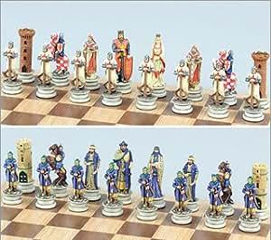 Crusade Themed Chess Set Iii Medium King Height 3 1 4 Toys Games