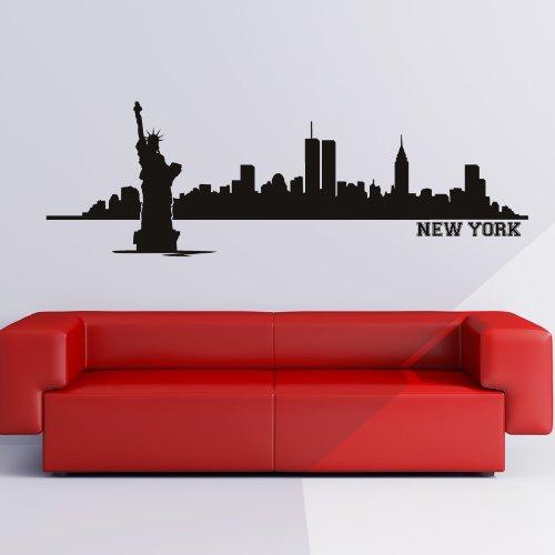 New York Skyline Decorative Wall Art Stickers Wall Decal