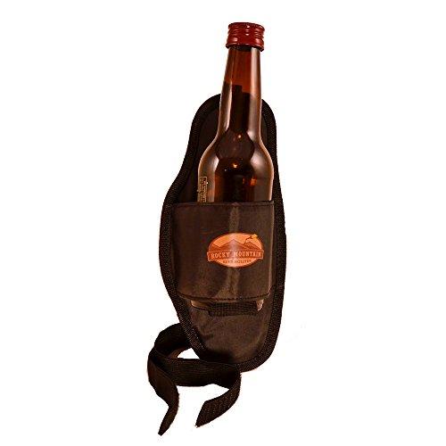 Black Canvas Drink Holster - Fits Beer Can or Bottle