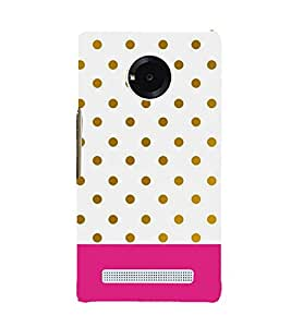 PINK WHITE AND GREEN POLKA DOT PATTERN 3D Hard Polycarbonate Designer Back Case Cover for YU Yuphoria::Micromax Yuphoria YU5010