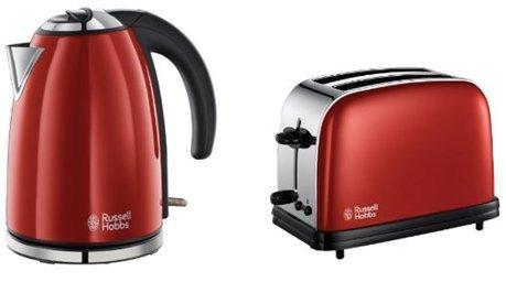 Russell Hobbs Passend Edelstahl-Wasserkocher & 2-Scheiben-Toaster Set **NEU** IGN