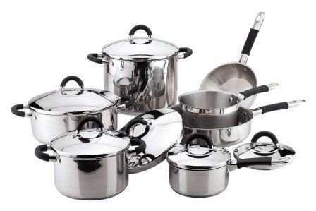Chef's Superior Stainless-steel 10-piece Cookware Set
