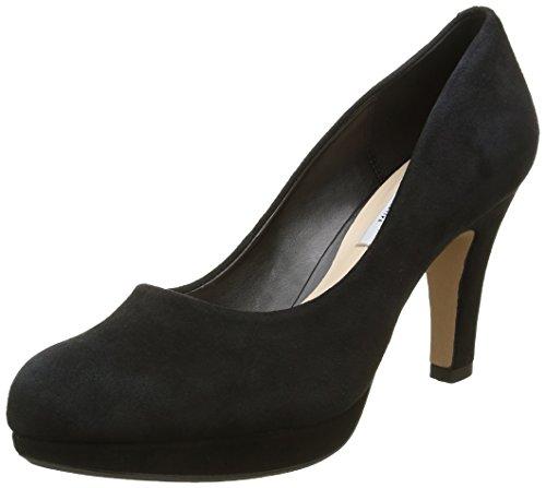 Scarpe tacco alto, colore Nero , marca CLARKS, modello Scarpe Tacco Alto CLARKS CRISP KENDRA Nero, Nero (Black Suede), 39.5 EU (6 Damen UK)