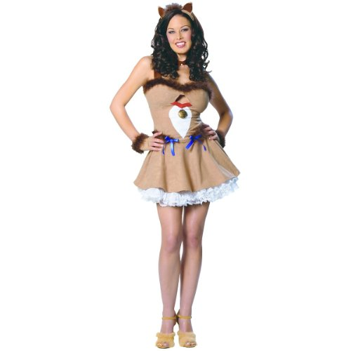 Wizard of Oz - Cowardly Lion (Lioness) Adult Costume Size 2-4 X-Small
