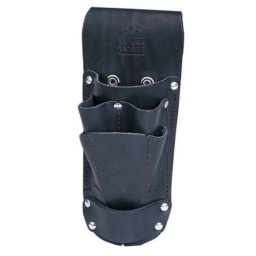 Ideal Industries 35-784BLK Leather Hip Holster Six Pocket Tool Pouch, Black