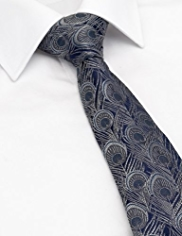 Autograph Pure Silk Feather Textured Tie