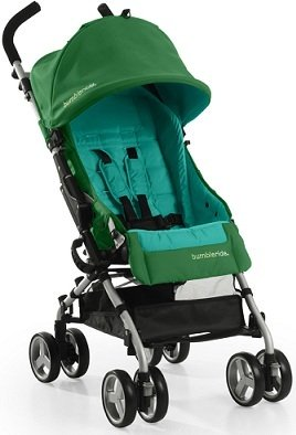 Bumbleride 2013 Flite GREEN PAPYRUS Compact Lightweight Single Baby Stroller