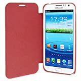 Cross Texture Flip Leather Case + Plastic Battery Housing Door Cover For Samsung Galaxy Note II / N7100 (Red)