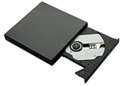 SIVNN External DVD Drive USB Portable DVD CD Drive With Burner-Drive-Write For Desktop And Laptop-Black
