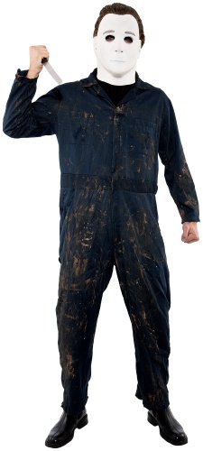 Paper Magic Men's Halloween Michael Myers Deluxe Jumpsuit And Mask
