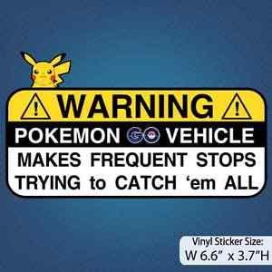 Pokemon GO / Be Careful / Bumper Sticker / Decal / Pokemon (Treasure Island Bumper compare prices)