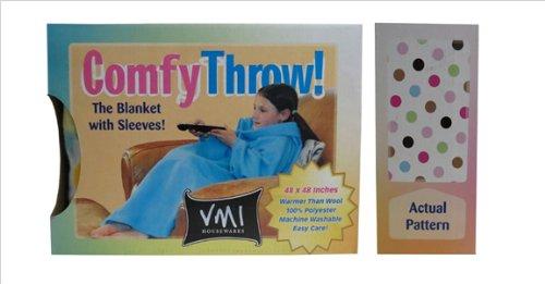 Vmi Kids Comfy Throw, Polka Dot front-972159