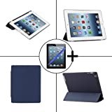 TeckNet® New Apple iPad 4 & iPad 3 (with Retina Display) Smart Case - Front & Back Full Protection Smart Cover with Magnetic Auto Wake Sleep Function - Includes screen protector and stylus pen, Detachable Back cover compatible with Official Apple Smart C