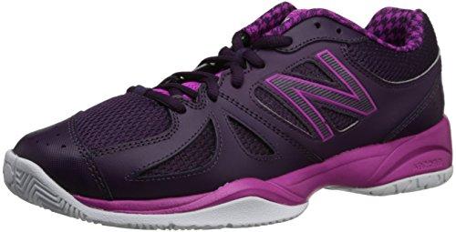 New Balance Women's WC696 Tennis Shoe,Black/Pink,10 B US