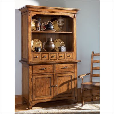 Picture of A-America Vintage Oak China Cabinet (VIN-VO-9-35-B / VIN-VO-9-35-T) (China Cabinets)