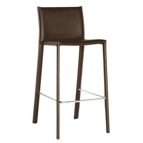 Superb Buy Baxton Studio 39 12 Inch Tall Leather Barstool Set Of 2 Machost Co Dining Chair Design Ideas Machostcouk