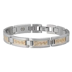 Buy Sabona Greek Key Duet Magnetic Bracelet (Various Sizes) by Sab