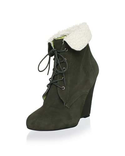 Candela Women's Shiloh Wedge Boot  [Green]