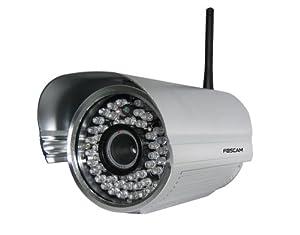 Foscam - FI8905W Caméra IP de surveillance étanche pour exterieur Grand Angle(30° ; l'objectif=6mm) avec vision de nuit - WiFi/sans fil - Argentée