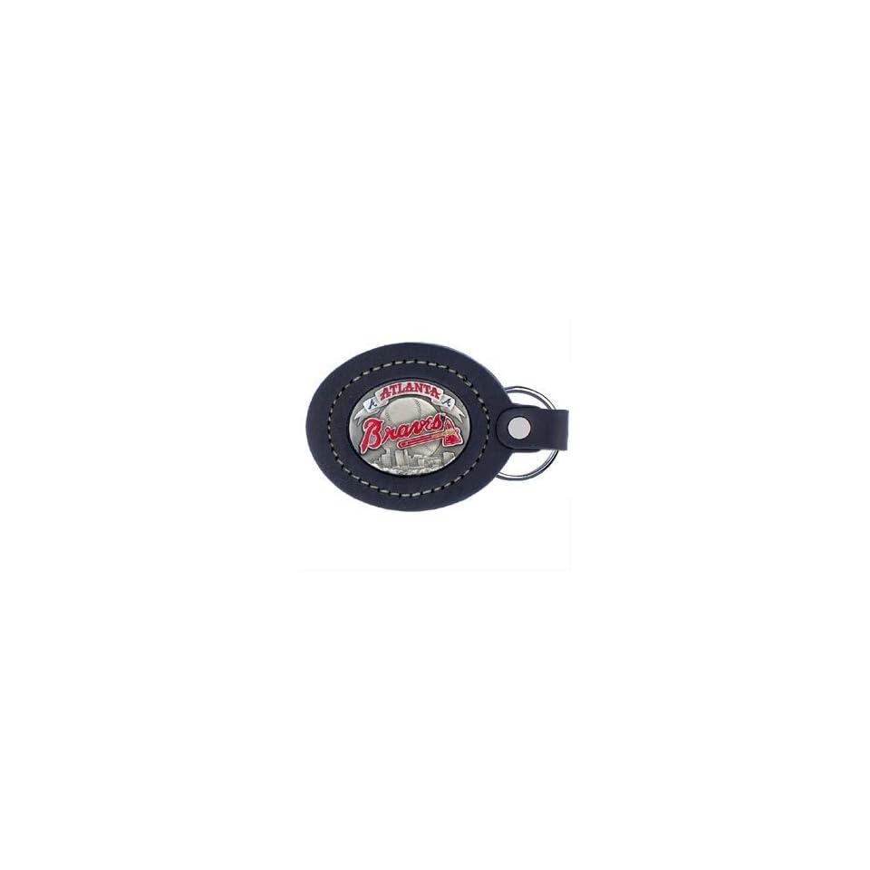 Atlanta Braves MLB Collectors Large Leather Key Ring