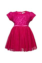 Soulfairy Girls' Dress (SS16-DRSFRL-020_Fuschia_5-6 Years)