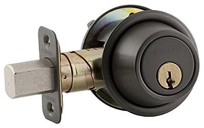 Schlage B560P 613 C Keyway Series B500 Grade 2 Deadbolt Lock, Single Cylinder Function, C Keyway, Oil Rubbed Bronze Finish