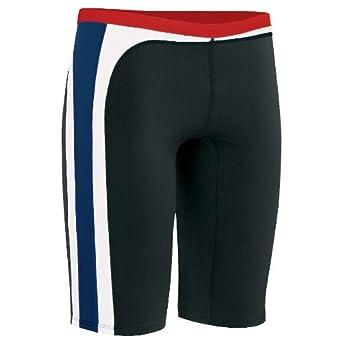 Nike Swim Men's Color Swirl Jammer Swimsuit - Varsity Red Navy 36